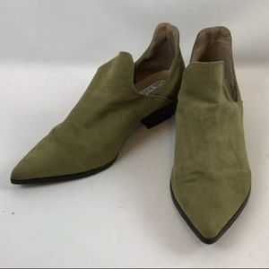 Cape Robbin Aria Ankle Booties Olive Green
